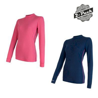 SENSOR ORIGINAL ACTIVE 2-PACK dámský triko dl.rukáv tm.modrá/růžová