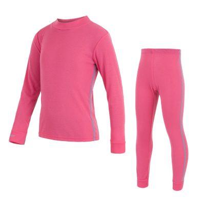 SENSOR ORIGINAL ACTIVE dětský set triko dl.rukáv + spodky růžová