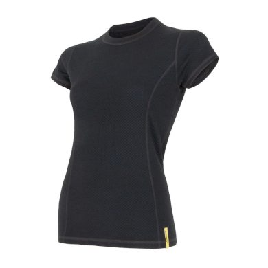 SENSOR MERINO DF dámské triko kr.rukáv černá