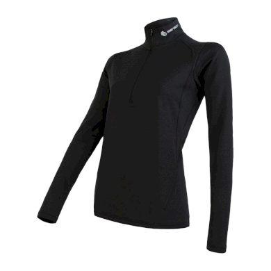 SENSOR COOLMAX THERMO dámské triko dl.rukáv zip černá