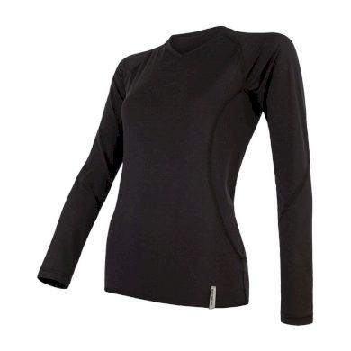 SENSOR COOLMAX TECH dámské triko dl.rukáv černá
