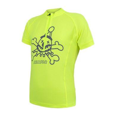 SENSOR CYKLO ENTRY dětský dres kr.rukáv reflex žlutá Clown