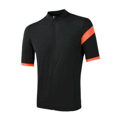 SENSOR CYKLO CLASSIC pánský dres kr.rukáv celozip černá/oranžová