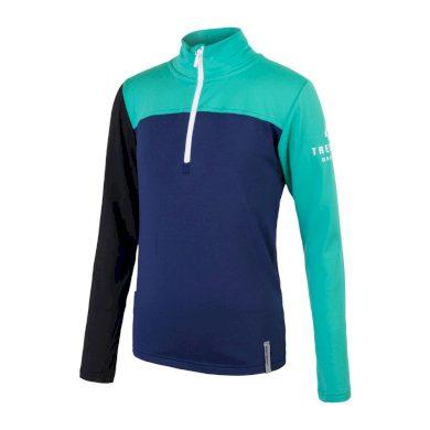 SENSOR COOLMAX THERMO dětské triko dl.rukáv deep blue/sea green/černá