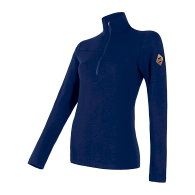SENSOR MERINO EXTREME dámské triko dl.rukáv zip tm.modrá