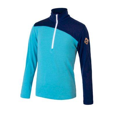 SENSOR MERINO EXTREME dětské triko dl.rukáv zip modrá/deep blue