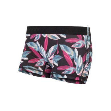 SENSOR COOLMAX IMPRESS dámské kalhotky s nohavičkou černá/leaves