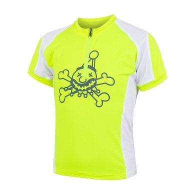 SENSOR CYKLO ENTRY dětský dres kr.rukáv reflex žlutá/bílá