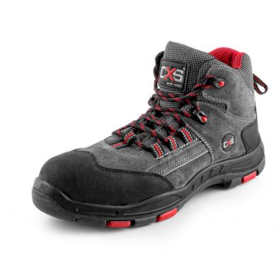 Kotníkové pracovní boty s plastovou špicí S1P Rock Travertine unisex CXS