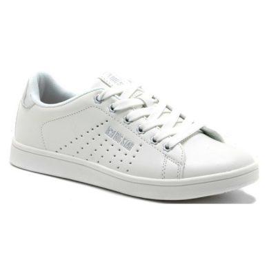 Dámské bílé sneakersy se stříbrným nápisem BIG STAR
