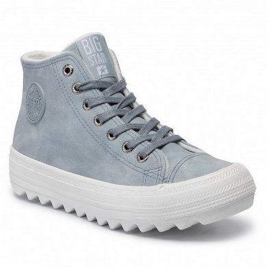 Sneakersy zimní světle modré dámské BIG STAR