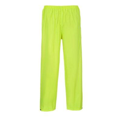 kalhoty do deště CLASSIC,žlutá Portwest