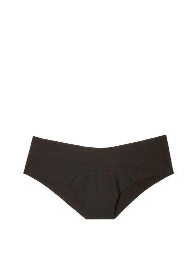Victoria's Secret černé bezešvé brazilské kalhotky No-show Cheeky