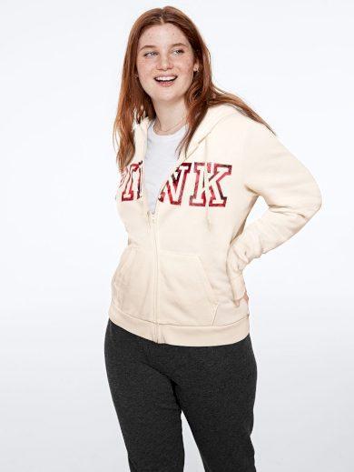 Victoria's Secret PINK mikina s kapucí na zip Perfect Full Zip