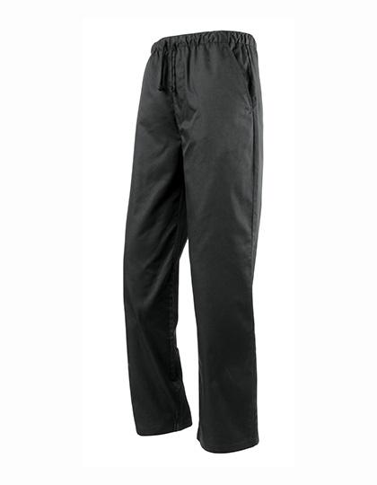 Unisex kuchařské kalhoty s elastickým pasem Premier