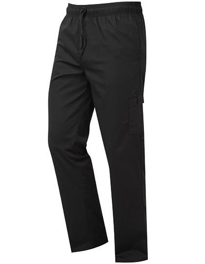 Pánské dlouhé kuchařské kalhoty černá barva Premier
