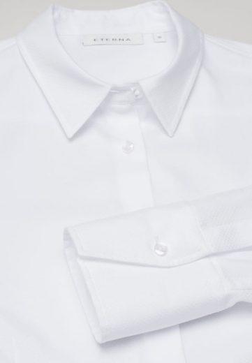 Dámská žakárová bílá košile dlouhý rukáv ETERNA 100% bavlna easy iron