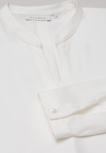 Dámská tunika krémová barva výstřih do V ETERNA Easy Iron