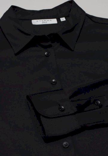 Žakárová černá dámská halenka ETERNA Slim Fit bavlna Easy Iron