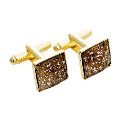 Manžetové knoflíčky se Swarovski® kameny - Gold Patina