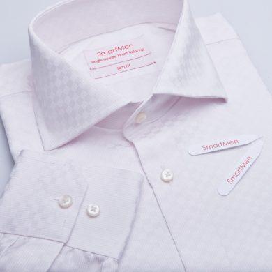 SmartMen pánská košile káro - široký límeček Regular fit