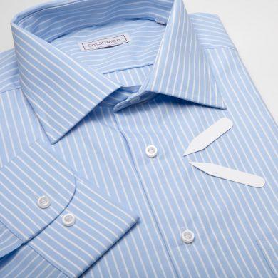 SmartMen pánská košile modrý proužek široký límeček Regular fit