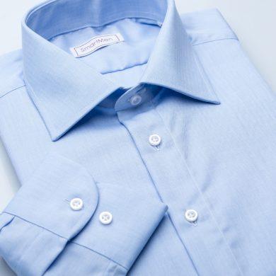 SmartMen modrá pánská košile rybí kostra Blue Herringbone Slim fit