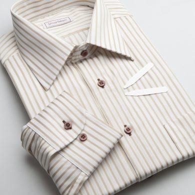 SmartMen pánská košile zlatý proužek Non Iron - nežehlivá Slim fit