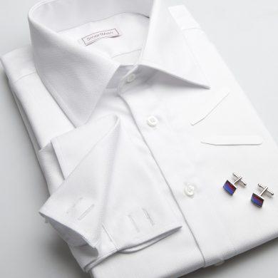 SmartMen pánská luxusní košile bílá na manžetové knoflíčky Regular fit