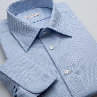SmartMen pánská luxusní košile nebesky modrá na manžetové knoflíčky Slim fit
