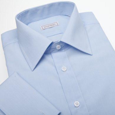SmartMen společenská modrá košile na manžetové knoflíčky Easy-care Slim fit