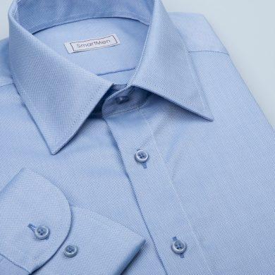 SmartMen světle modrá pánská košile Royal Oxford Easy Care Slim fit