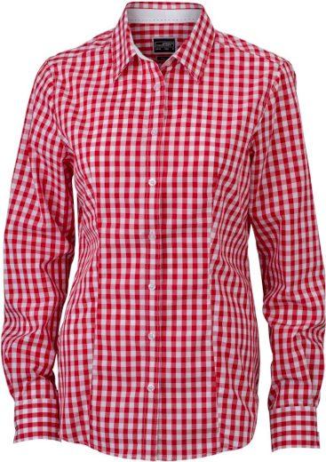 Dámská kostkovaná košile s dlouhým rukávem Easy Care