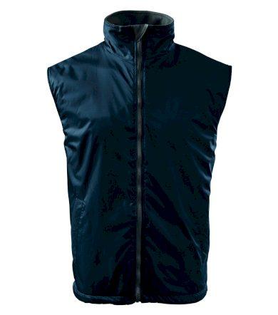 Zateplená pánská vesta s kontrastní podšívkou