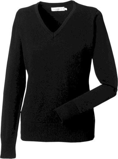 Dámský pulovr s výstřihem do V