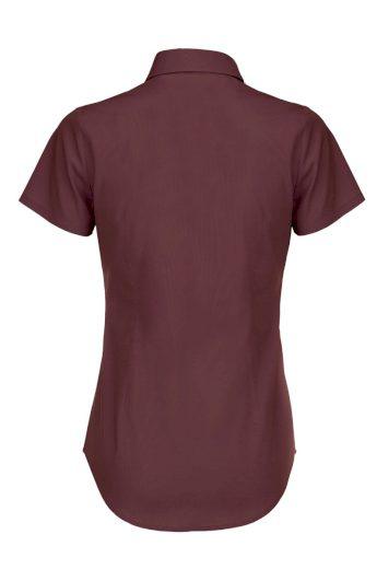 Popelínová elastická košilová halenka krátký rukáv