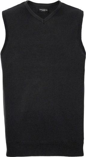 Pánská jednobarevná pletená vesta