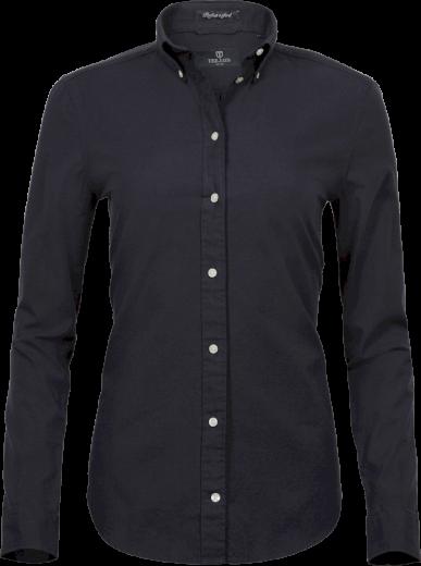 Dámská Oxford košile jednobarevná Button-down