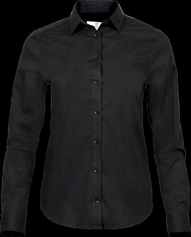 Dámská luxusní elastická košilová halenka Slim fit Easy Iron