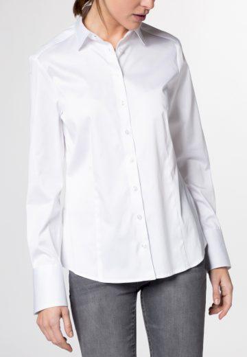 Bílá dámská košile dlouhý rukáv ETERNA Modern Classic saténová stretch bavlna Easy Iron
