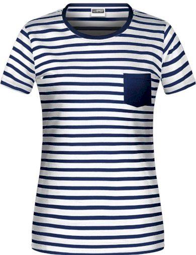 Elegantní námořnické tričko s kapsičkou dámské James Nicholson