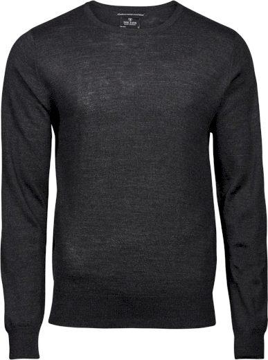 Pánský pulovr s kulatým výstřihem Tee Jays akryl & merino vlna