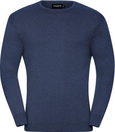 Pánský pletený svetr s kulatým výstřihem bavlna & akryl