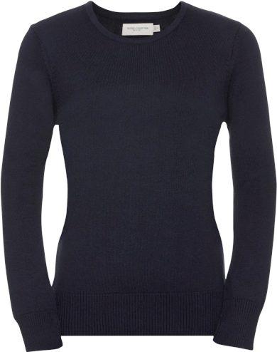 Dámský pletený svetr s kulatým výstřihem bavlna & akryl
