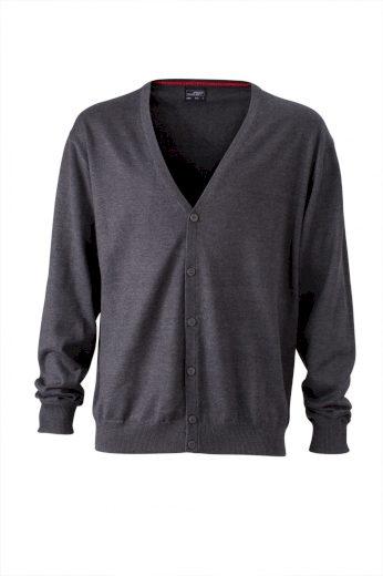 Kardigan pánský s výstřihem do V 100% česaná bavlna