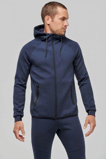 Kariban pánská funkční tepláková bunda na zip a kapucí (k teplákové soupravě)