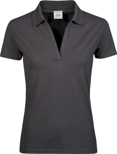 Tee Jays dámské polo tričko výstřih do V bez knoflíků bavlna stretch