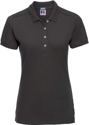 Russell dámské elastické polo bavlna & Lycra® delší střih Slim fit