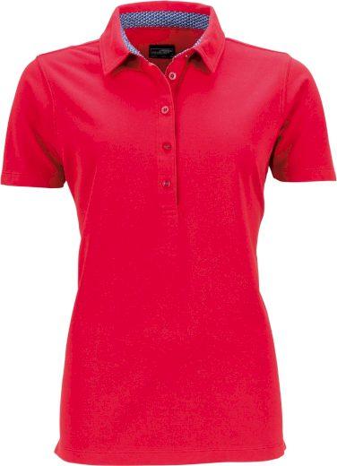 Dámské polo tričko krátký rukáv s kontrastem & předepraný vzhled