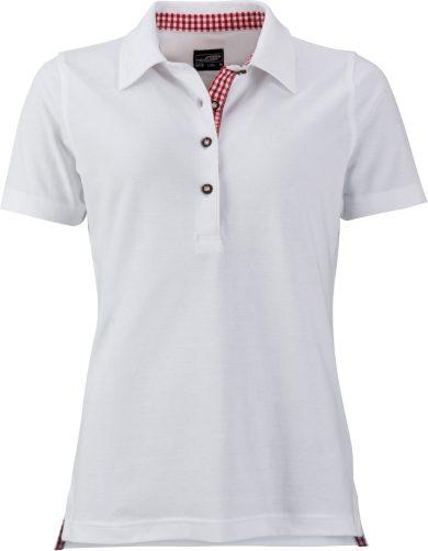 James Nicholson dámské polo piqué s károvaným kontrastem country styl 100% bavlna
